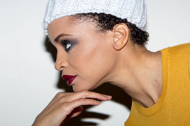 Latarsha Rose classic black smokey eye makeup
