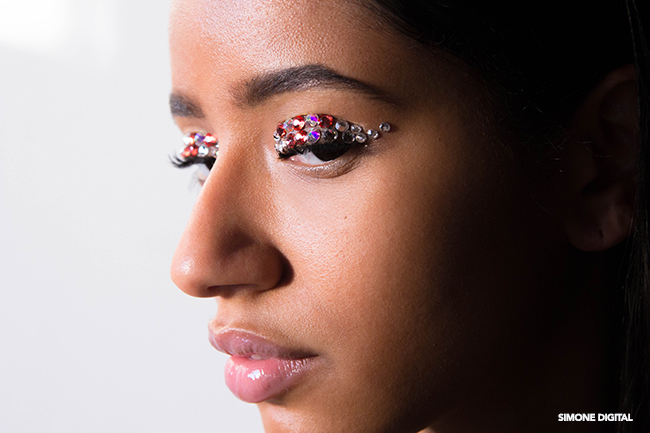 How To Apply Rhinestone Eye Makeup, Makeup For Black Women