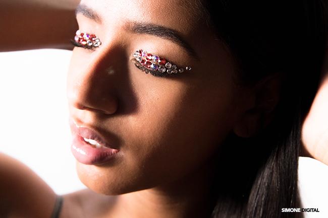 How To Apply Rhinestone Eye Makeup, Makeup For Black Women