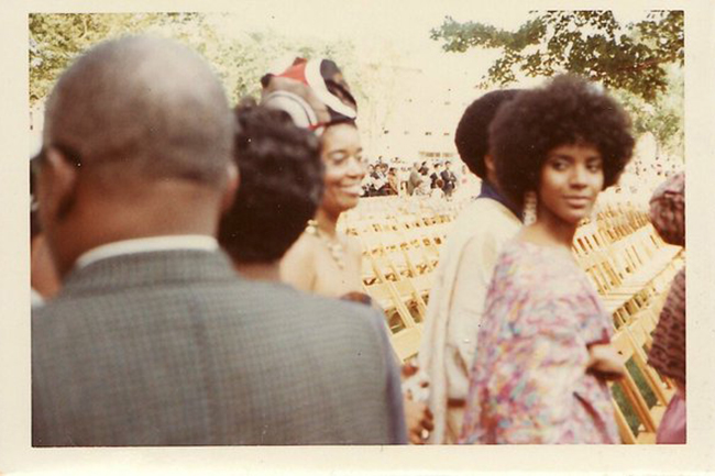 Phylicia Rashad at her college graduation